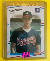 1988 TOM Glavine ROOKIE FLEER CARD #539 Vintage Baseball MINT Atlanta Braves mlb