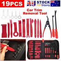 Car Trim Removal Tool Set 19x Hand Tools Panel Pry Bar Door Interior Clip Kit AU