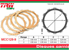 9 Disques Garnis d'Embrayage Triumph 955 Speed Triple T509 1999 2000 2001