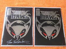 2 copies SHADOWHAWK #1 COMIC one copy signed Jim Valentino
