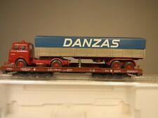 Wiking/Liliput H0: 200L Niederflurwagen beladen mit Wiking MAN DANZAS, 1970 RAR!