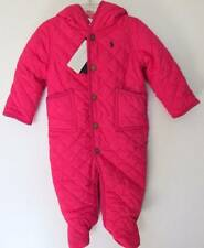 Ralph Lauren Baby Girls Sport Pink Quilted Barn Bunting (9M) NWT