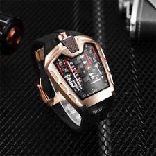 Luxury Men's Watch Triangle Rose Gold Rubber Quartz Mechanical Watch Sports Gift