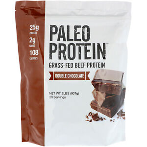Paleo Protein, Grass-Fed Beef Protein, Double Chocolate, 2 lbs (907 g)