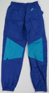 Rare Vintage NIKE Spell Out Swoosh Track Pants 80s 90s Gray Tag Hornets Youth L