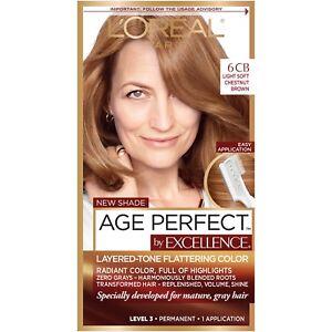 L'Oreal Paris Excellence Age Perfect, 6CB Light Soft Chestnut Brown