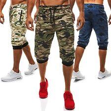 Herren-Fitnessmode im Shorts-Stil mit Taschen und Baumwollmischung für Fitness