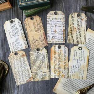 Retro Paper Tags For DIY Junk Journal Planner Scrapbook Album Decoration Crafts