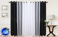 Curtains Eyelet Ring Top Fully Lined Pair Ready made curtains Black White Grey