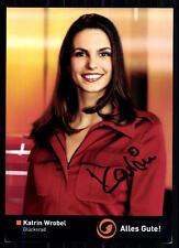 Katrin Wrobel Glücksrad Autogrammkarte Original Signiert ## BC 7837