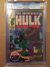 CGC 7.5 Incredible Hulk #121 *OW-White*1st App. the Glob*1969*