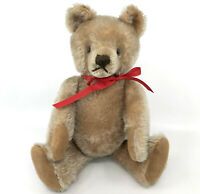 Steiff Original Mask Teddy Bear 70s Caramel Mohair Plush 36cm 14in Growler no ID