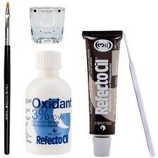 RefectoCil Eyelash Eyebrow Tint Dye Kit Natural Brown No.3 Brush Dish Developer