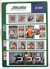 CONSIGNE DE SECURITE A 320 / COMPAGNIE AERIENNE ALITALIA 2015