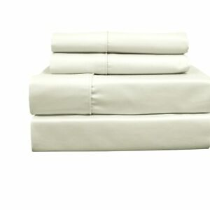 650 Thread Count Wrinkle Free Cotton Blend Solid Sheet Set