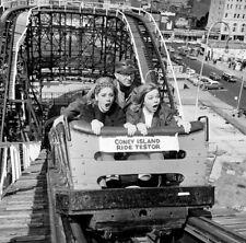1950s Coney Island Cyclone Ride Tester 8 x 8 Photograph