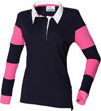Collared Long Sleeve Casual Striped Tops & Shirts for Women