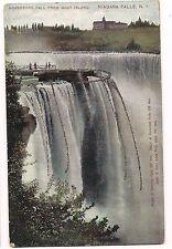 HORSESHOE FALL From Goat Island NIAGARA FALLS New York Vintage UDB Postcard NY