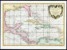 1782 Geo-Hydrographique du Golfe du Mexique Map MEXICO CUBA Caribbean (JM)