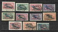"Memelgebiet ""Flugpost 2.Ausgabe 1922 Mi.Nr 72-83"" gest."