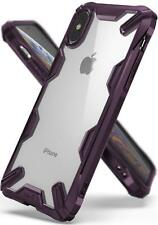 For iPhone XS | Ringke [FUSION-X] Shockproof Clear Back Armor Bumper Case Cover