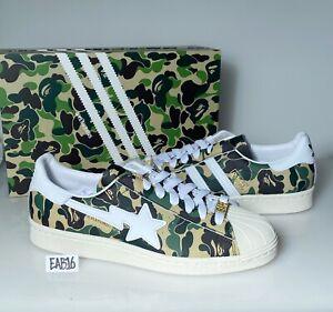 Adidas x Bape Superstar 80s ABC Camo Green White GZ8981 A Bathing Ape Size