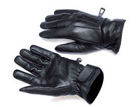 Mens Touch Screen Gloves Leather Thermal Lined Phone Texting Gloves