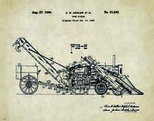 John Deere Tractor Patent Poster Art Corn Picker Toys Charles Freitag PAT320