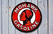 Mohawk GASOLINE in metallo Insegna, Pubblicità, GAS, OLIO, VINTAGE, decorazioni per garage, 916