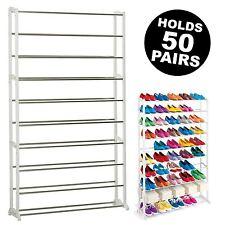 Shoe Rack Storage Cabinet Stand Unit Organiser 10 Tier Shelf 50 Pairs Cupboard