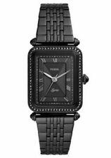Fossil Women's Lyric Three-Hand Black Stainless-Steel Watch ES4722