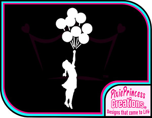 Banksy Girl Balloons C Vinyl Sticker Wall Art Poster Car Home Decor Room Decal