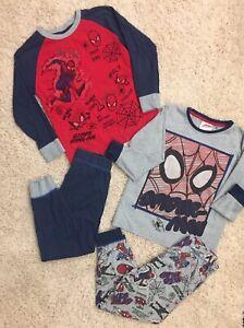 Marvel Next Spiderman Set Of 2 Boys Pajamas Size 5-6 Years