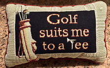 Golf Suits Me To A Tee Tapestry Word Pillow