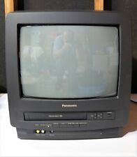 Panasonic PV-M1324 TV VCR Combo Tested Works No Remote Gaming Retro VHS Tapes