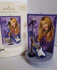 Hannah Montana Blue Guitar Christmas Ornament Battery Operated Sound 2006
