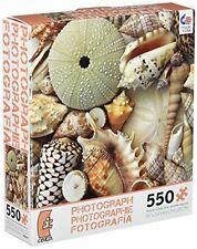 Ceaco Photography Jigsaw Puzzle Sea Shells Ocean Beach Photo Sand 550 Pieces