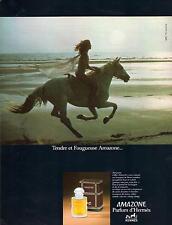 ▬► PUBLICITE ADVERTISING PAFUM PERFUME Amazone Hermès 1978