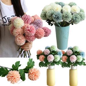 Fake Flower Silk Dandalions Ball Artificial Dandalion Wedding Holding Flowers