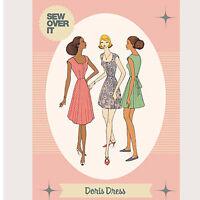 The Doris Dress Womens Stylish Ladies Sewing Pattern UK Size 8-20