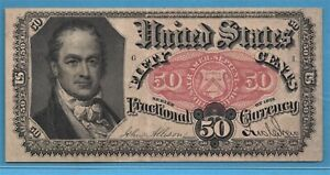 ***    FIFTH ISSUE  FR 1381  FRACTIONAL CURRENCY  50 CENTS   ***