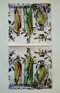 4x Lunch Paper Napkins Mediterranean Bottles for Decoupage Decopatch Craft 33cm