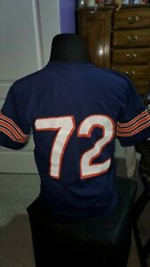 VINTAGE RAWLINGS Single Stitch CHICAGO BEARS 72 reFrigerator PERRY JERSEY shirt