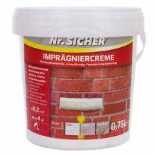 Nr. Sicher - Imprägniercreme Fassade Klinker Putz Beton Stein (0,75 L oder 5 L)
