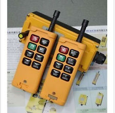 2 Transmitters 8 Channels Hoist Crane Radio Remote Control System 110V AC