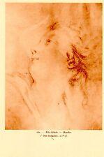 PLANCHE TAILLE DOUCE TIREE SANGUINE TIRAGE 1920 TETE D' ETUDE 151 1è  DE BOUCHER
