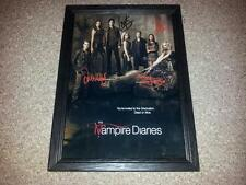 """THE VAMPIRE DIARIES PP SIGNED & FRAMED 12X8"""" PHOTO POSTER SEASON 4 PAUL WESLEY"""