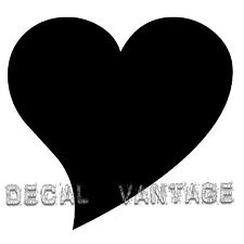 Heart Style B Vinyl Sticker Decal Cute Curved Girl - Choose Size & Color