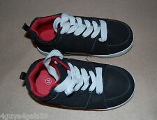 Toddler Boy SHOES Black Athletic MOCK SUEDE Tennis Lace Up  13