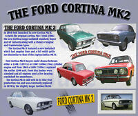 FORD CORTINA MK2 CLASSIC CAR MOUSE MAT LIMITED EDITION
